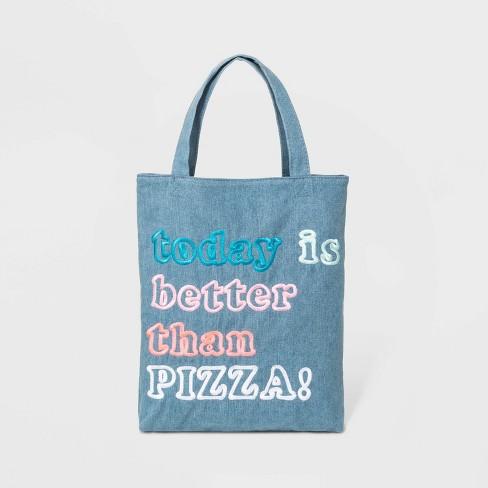 Kids' Pizza Tote Bag - Cat & Jack™  Blue - image 1 of 1