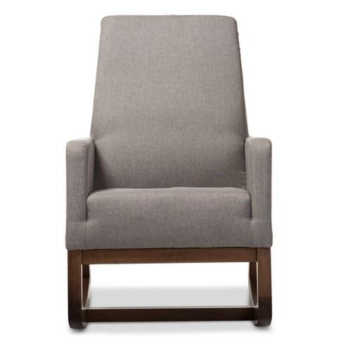 Century Retro Modern Fabric Upholstered