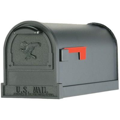 Gibraltar Arlington Large Steel Post-Mount Mailbox Black