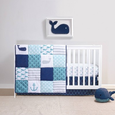 PS by The Peanutshell Nautical Crib Bedding Set - 3pc