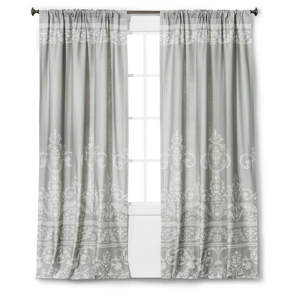 Vintage Gate Curtain Panel Gray (55