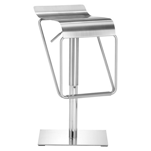 "Curvaceous Adjustable 30"" Barstool - Stainless Steel - ZM Home - image 1 of 1"