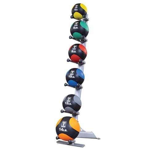Body Solid Medicine Ball Rack with Medicine Balls 4-6-8-10-12-14LBS (GMR10-PACK) - image 1 of 1