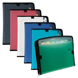 Five Star Expanding File Folder with Zipper, 7 Pocket - Multicolor