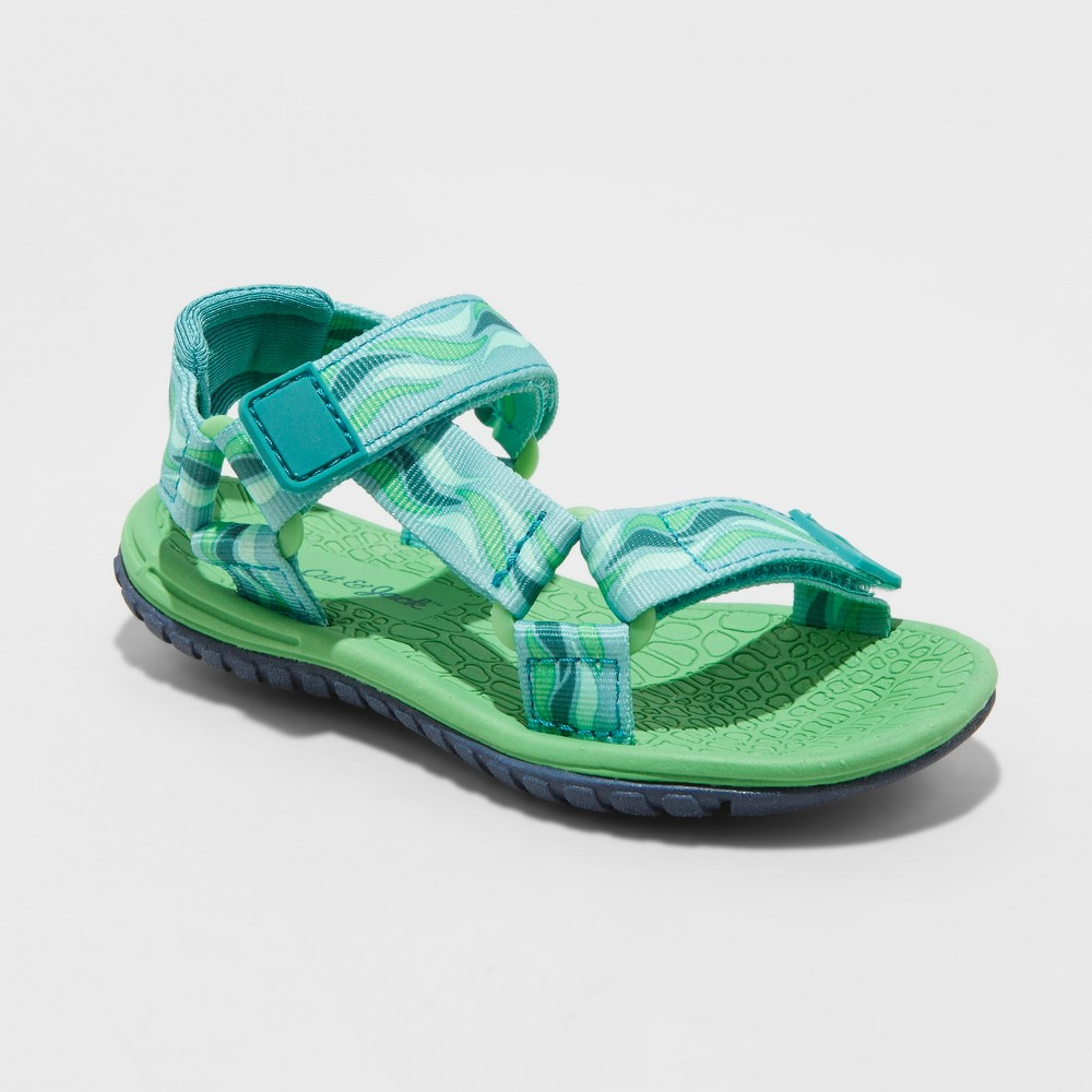 Image of Toddler Boys' Teddy Hiking Sandals - Cat & Jack Green L, Boy's, Size: Large