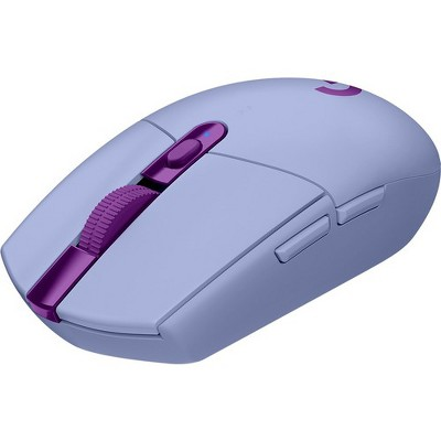 Logitech G305 LIGHTSPEED Wireless Gaming Mouse - Travel Mouse - Optical - Wireless - Radio Frequency - 2.40 GHz - Lilac - 12000 dpi - 6 Button(s)