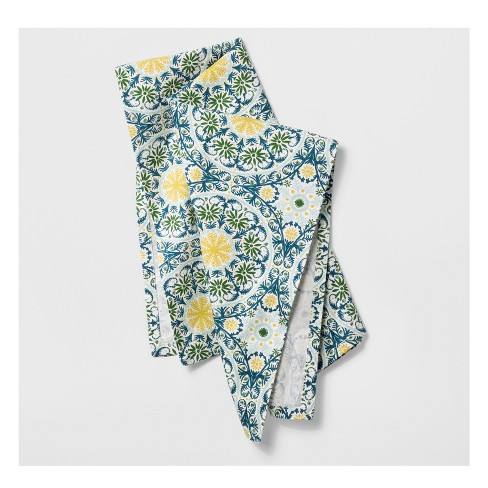 Blue/Green Medallion Kitchen Towel - Opalhouse™