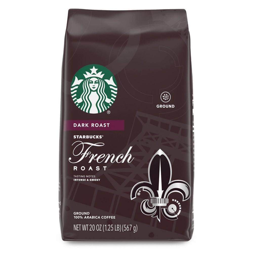 Starbucks French Roast Dark Roast Ground Coffee 20oz
