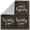 """Sparkle and Bash 100Pcs Happy 21st Birthday Party Paper Disposable Napkins 6.5"""" Birthday Decorations, Party Supplies - image 3 of 3"""