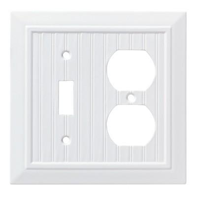 Franklin Brass Classic Beadboard Switch/Duplex Wall Plate White