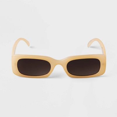 Women's Rectangle Sunglasses - A New Day™ Beige