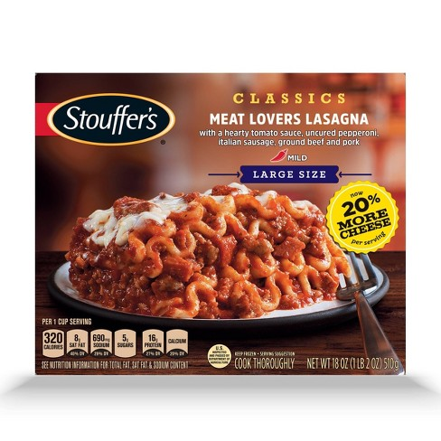 Stouffer's Meat Lovers Frozen Lasagna - 18oz - image 1 of 3