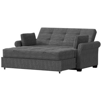 Queen Hannah Convertible Sofa Gray - Serta