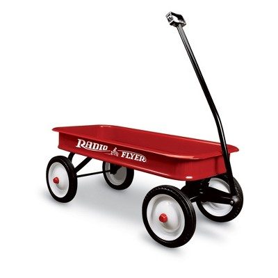 Radio Flyer 18Z 10 Inch Durable Steel Wheels Original Timeless Classic Design Kids Red Wagon with Extra Long Foldable Handle
