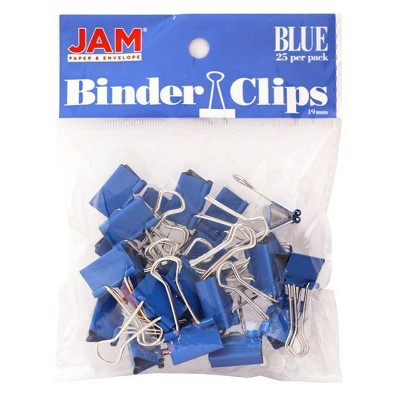 """JAM Paper 3/4"""" 25pk Colorful Binder Clips - Small"""