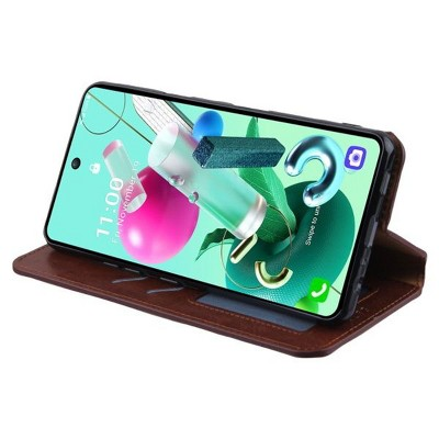 MyBat MyJacket Wallet Element Series Compatible With Cricket Grand LG K92 5G - Brown