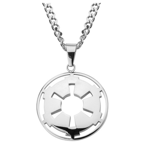 Symbol Stainless Steel Cut Out Pendant