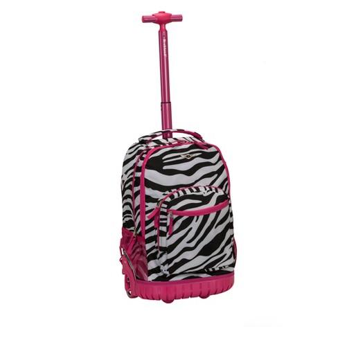"""Rockland 19"""" Frame Backpack - Pink Zebra - image 1 of 3"""