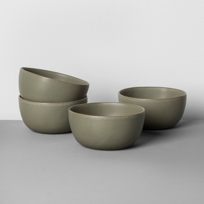 4pk Stoneware Cereal Bowl Green - Hearth & Hand™ with Magnolia