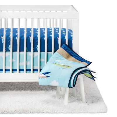 Crib Bedding Set Fly, Fly Away 4pc - Cloud Island™ - Blue