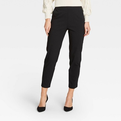 Women's Modern Pull-On Skinny Cropped Trousers - Who What Wear™ Black