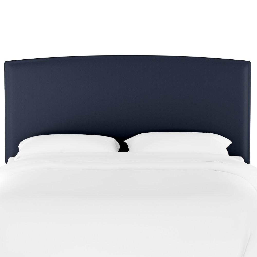 Upholstered Headboard Twin Velvet Navy Opalhouse 8482