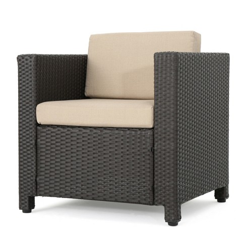 Puerta Wicker Club Chair - Christopher Knight Home - image 1 of 4