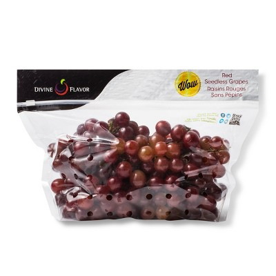 Extra Large Red Seedless Grapes - 1.5lb Bag