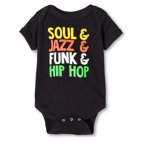 Infant Music Genres Bodysuit Black Newborn - image 1 of 1