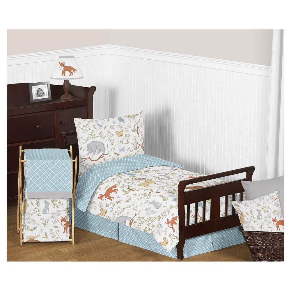 Gray & Blue Woodland Toile Bedding Set (Toddler) - Sweet Jojo Designs