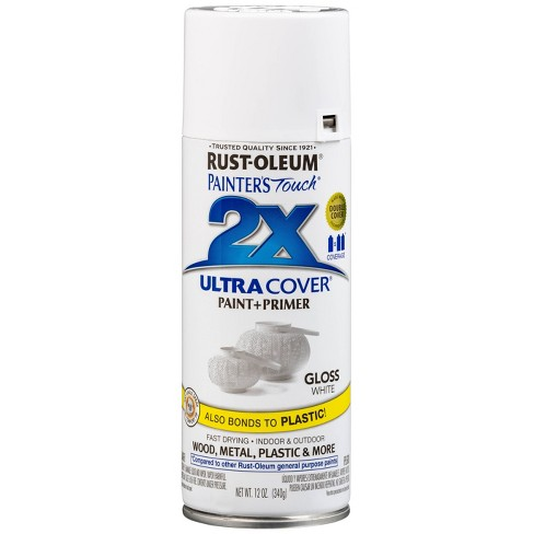 Rust Oleum Painter S Touch 2x Ultra Cover Gloss White Spray Paint 12oz