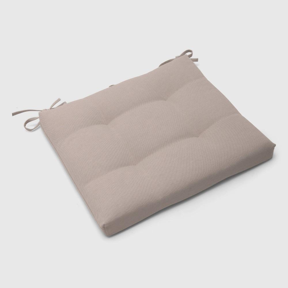 Outdoor Tufted Seat Cushion Tan - Threshold