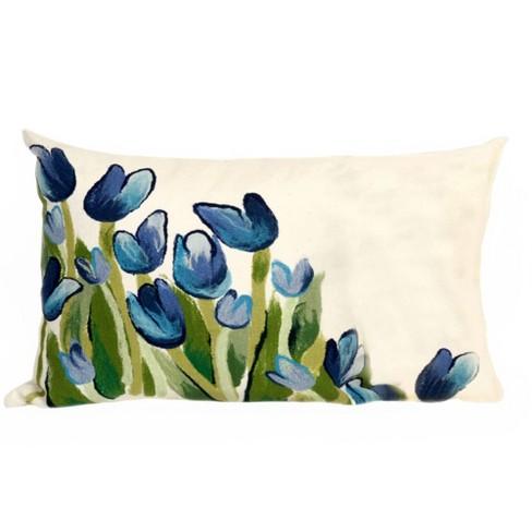 Blue Allover Tulips Throw Pillow Liora Manne Target