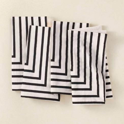 4pk Cotton Striped Napkins Black/White - Opalhouse™ designed with Jungalow™ - image 1 of 4