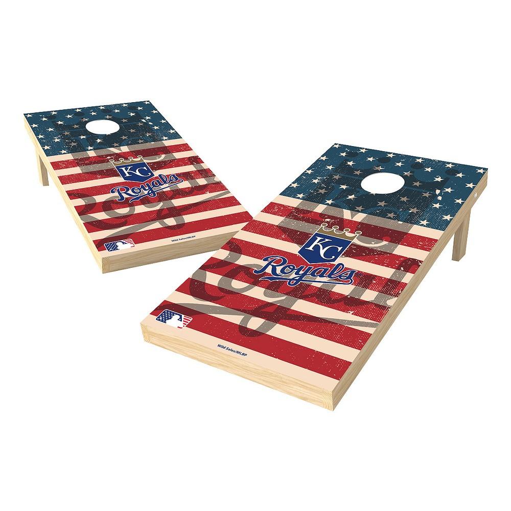 MLB Kansas City Royals Wild Sports 2x4 Tailgate Toss Cornhole Shield - Stars and Stripes