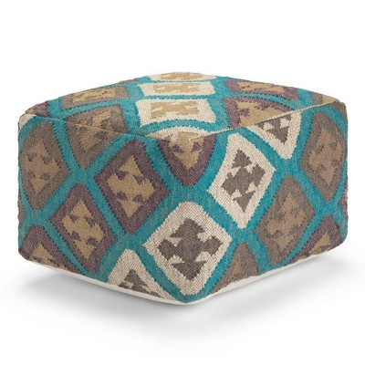 Alba Square Moroccan Inspired Pouf - WyndenHall