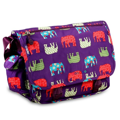 J World Terry Messenger Bag - Elephant - image 1 of 4