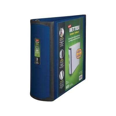 Staples Better 3-Inch D 3-Ring View Binder Blue (15127-CC) 702875