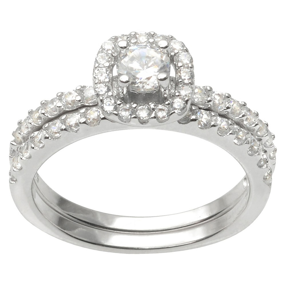 4/5 CT. T.W. Journee Collection Round Cut CZ Basket Set Dainty Ring in Sterling Silver - Silver (6)