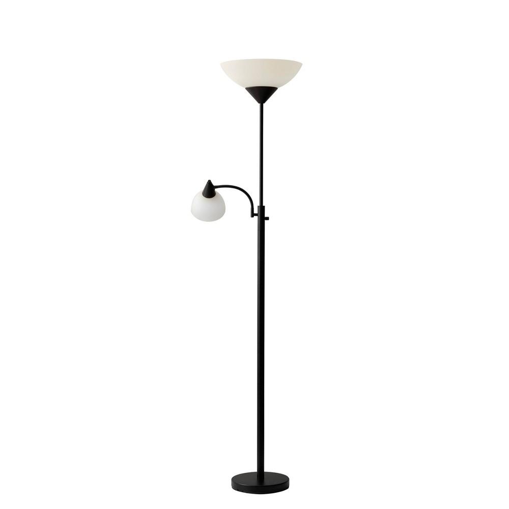 Image of Adesso Piedmont Combo Floor Lamp - Black