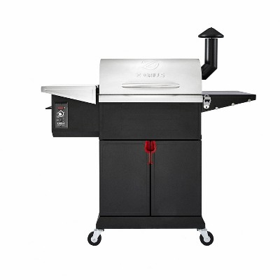 Z GRILLS ZPG-L600E 8 in 1 Wood Pellet Portable Steel Constructed Grill Smoker for Outdoor BBQ Cooking with Digital Temperature Control, 573 Sq In