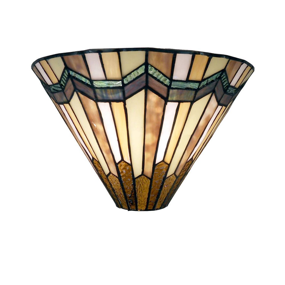 "Image of ""13"""" x 13"""" x 8"""" Tiffany Style Arrowhead Wall Sconce Brown/Cream - Warehouse of Tiffany"""