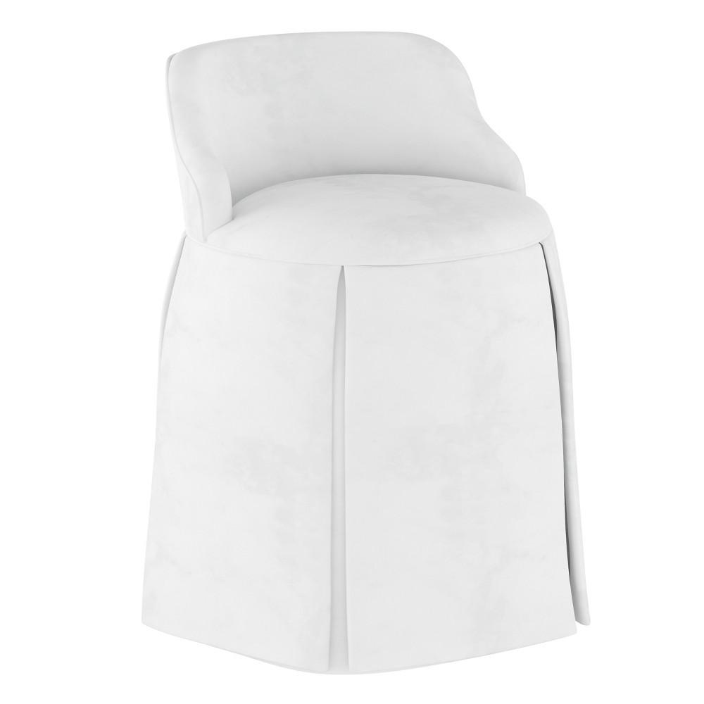 Vanity Chair Velvet White - Simply Shabby Chic