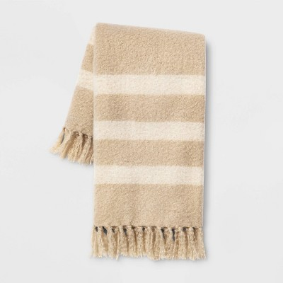 Faux Mohair Throw Neutral - Threshold™