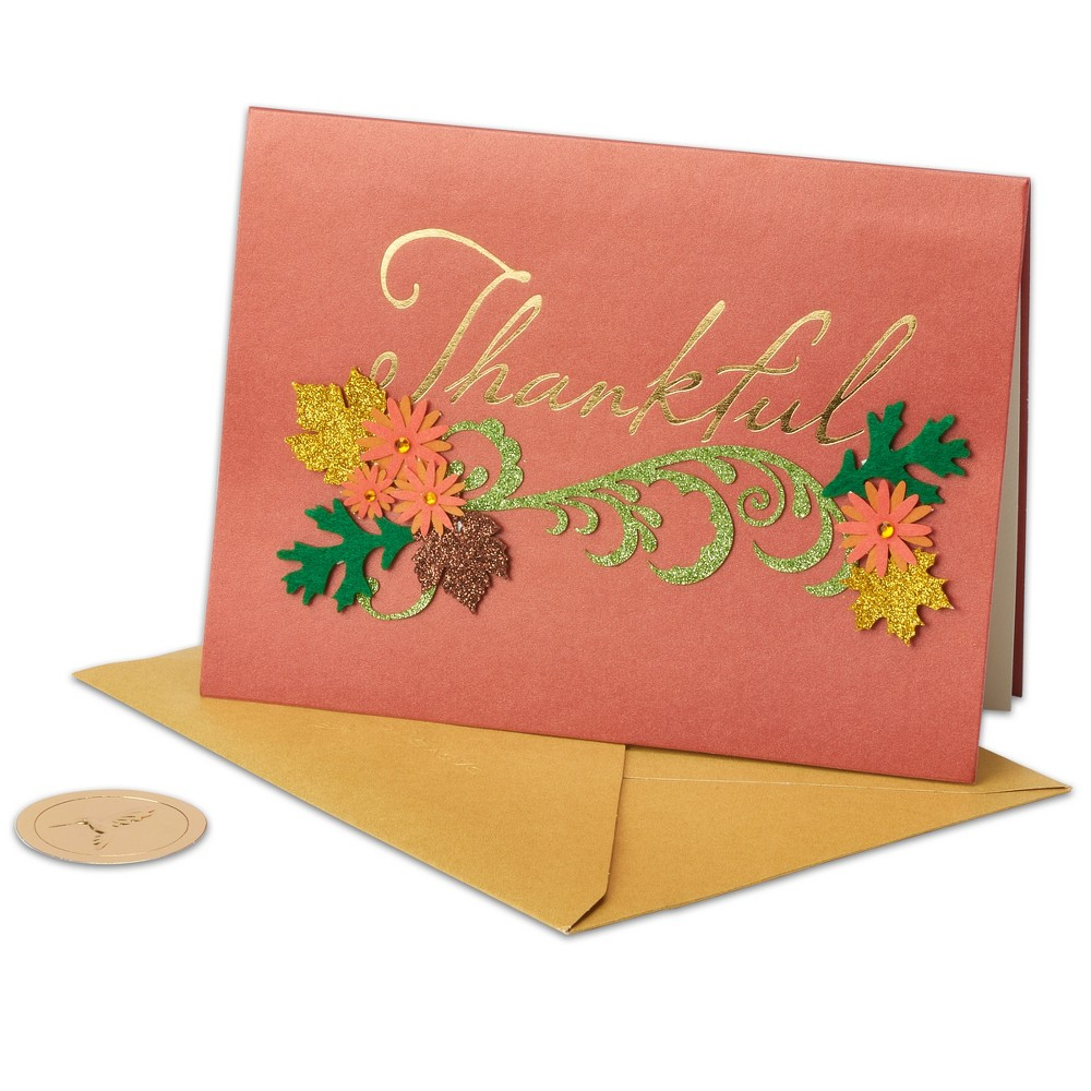 Papyrus Thankful Thanksgiving Card, Multi-Colored
