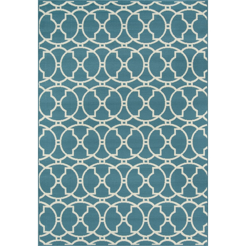 Blue Indoor/Outdoor Calypso Area Rug 6'7