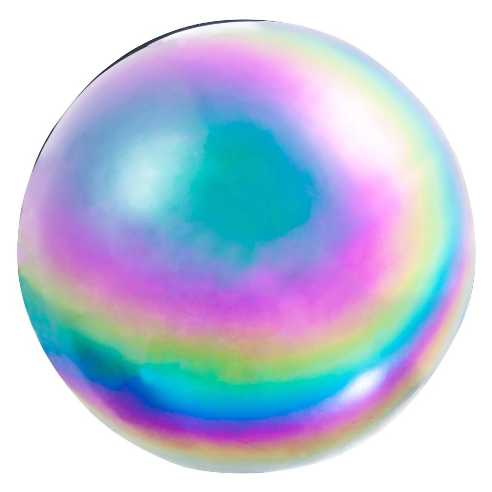 Image of 10.20 H Glass Gazing Ball - Evergreen, Multi-Colored