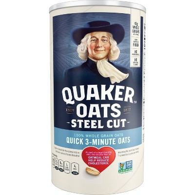 Oatmeal: Quaker Quick Steel Cut
