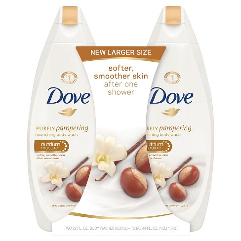 Dove Purely Pampering Shea Butter Warm Vanilla Body Wash - 22oz/2pk - image 1 of 2