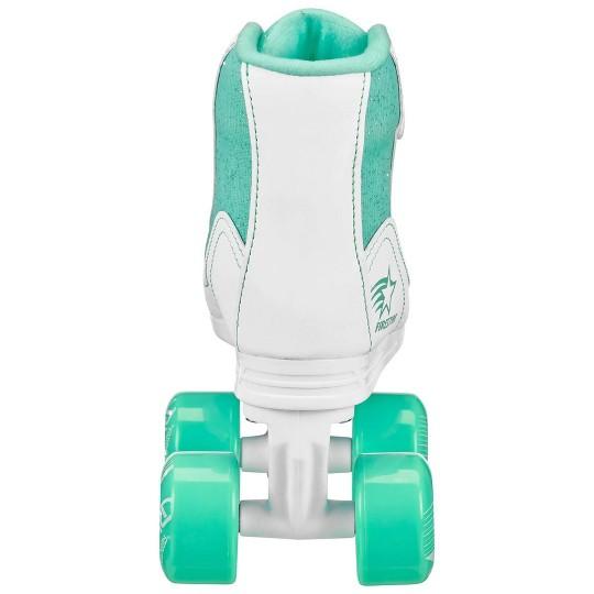 Roller Derby FireStar Youth Girls' Roller Skate - White/Mint - J13, Girl's, White Green image number null